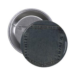 Dirty Denim Pocket 2 Inch Round Button