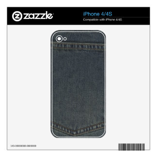 Dirty Denim Pocket Decal For iPhone 4S