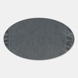 Dirty Denim Pocket Oval Stickers