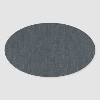 Dirty Denim Oval Sticker
