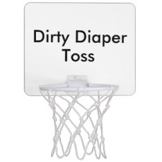 Dirty Diaper Toss Baby Shower Game Mini Basketball Backboard at Zazzle