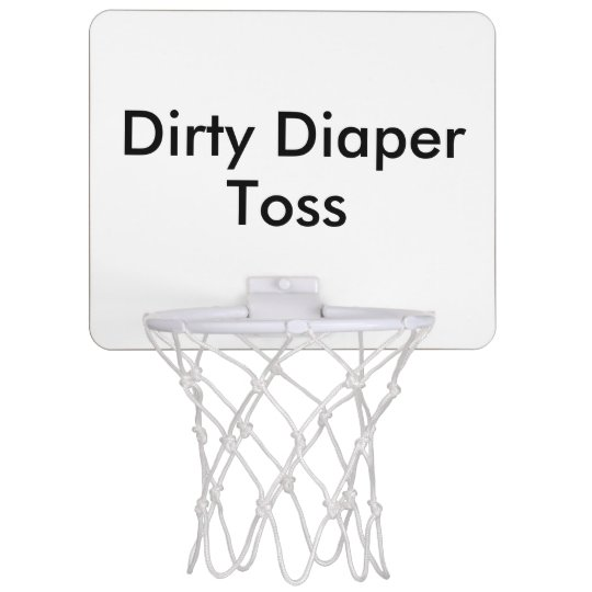Dirty Diaper Toss Baby Shower Game Mini Basketball Backboard