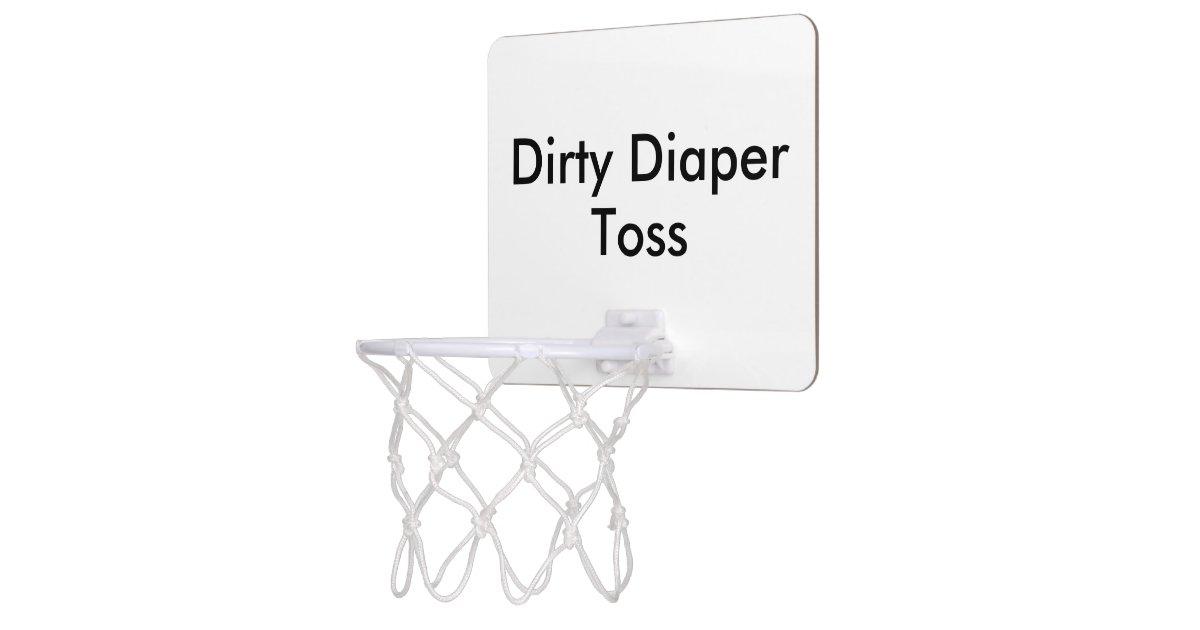 dirty diaper toss baby shower game mini basketball backboard zazzle