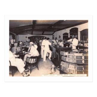 Dirty Dick's Hotel Bar, Nassau, Bahamas Vintage Postcard