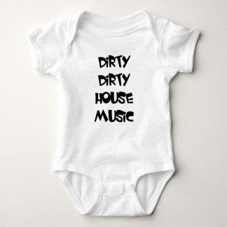 DIRTY DIRTY HOUSE MUSIC baby one-peice edm dj Baby Bodysuit