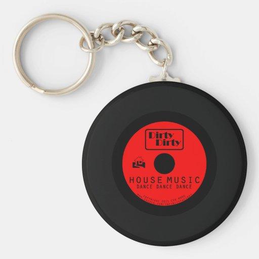 Dirty Dirty House Music Vinyl Keychain