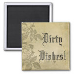 Dirty Dishes Vintage Roses Magnet