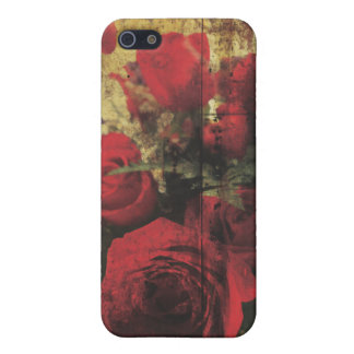 Dirty Distressed & Grungy Red Roses Bouquet Cover For iPhone SE/5/5s