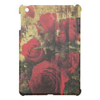 Dirty Distressed Grungy Red Roses Bouquet iPad Mini Case