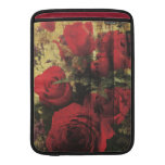 Dirty Distressed & Grungy Red Roses Bouquet MacBook Sleeves