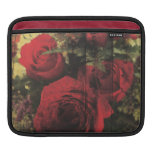Dirty Distressed & Grungy Red Roses Bouquet Sleeves For iPads