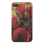 Dirty Distressed & Grungy Red Roses Bouquet iPhone 4 Cover