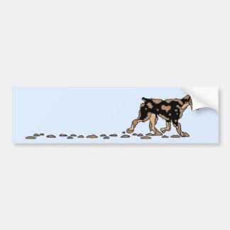 Dirty Dog Bumper Sticker