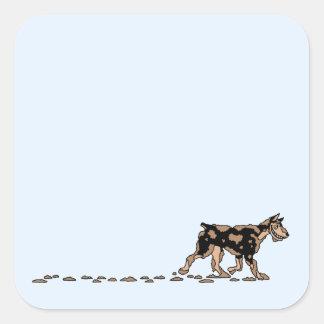 Dirty Dog Square Sticker