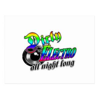 DIRTY ELECTRO All Night Long DJ Postcard