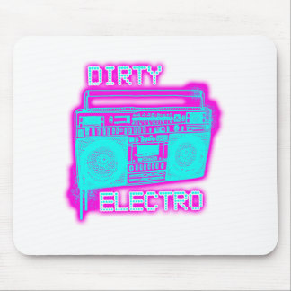 DIRTY ELECTRO dance club DJ girls an guys neon Mouse Pad