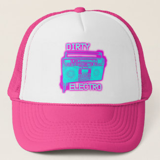 DIRTY ELECTRO dance club DJ girls neon Electro Hat