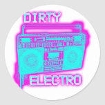 DIRTY ELECTRO ROUND STICKERS