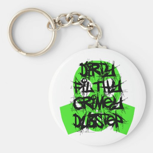 Dirty Filthy Grimey Dubstep Basic Round Button Keychain