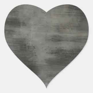 Dirty glass vintage stripes brush heart sticker