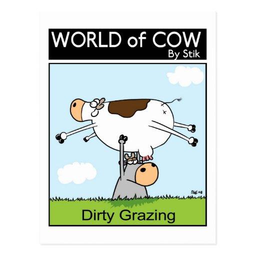 Dirty Grazing Postcard