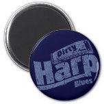 Dirty Harp Blues Fridge Magnets
