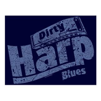 Dirty Harp Blues Postcard