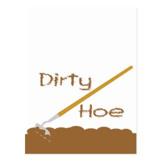 Dirty hoe postcard