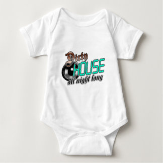 Dirty HOUSE MUSIC all night long Baby Bodysuit