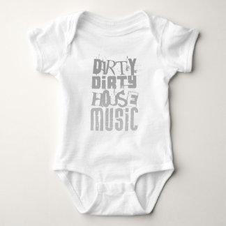 Dirty House Music - DJ Disc Jockey Tune Clubbing Baby Bodysuit