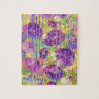 Dirty Kisses Abstract Pattern Jigsaw Puzzle
