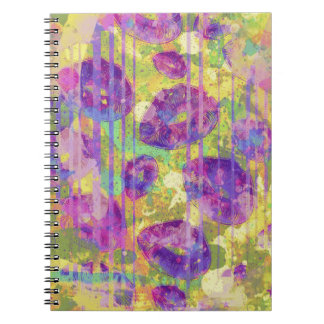 Dirty Kisses Abstract Pattern Notebook