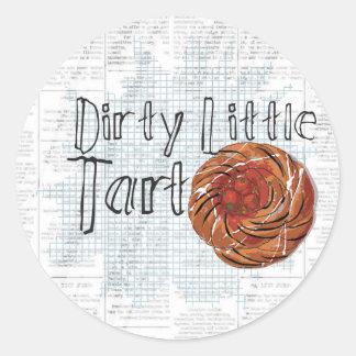 dirty little tart round sticker