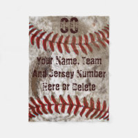 Dirty Look PERSONALIZED Baseball Blanket 3 Sizes