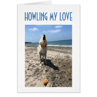 """DIRTY LOVING DOG HOWLS """"LOVE FOR YOU"""" CARD"""
