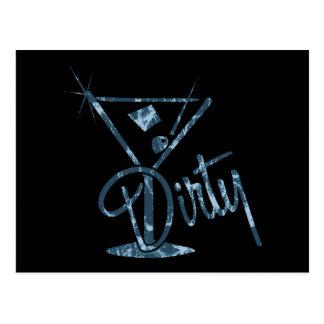 Dirty Martini - Blue Postcard