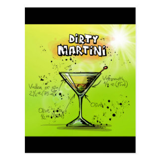 Dirty Martini - Cocktail Gift Postcard