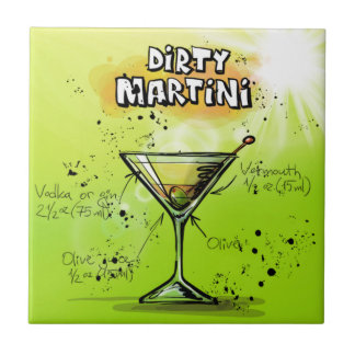 Dirty Martini - Cocktail Gift Tile
