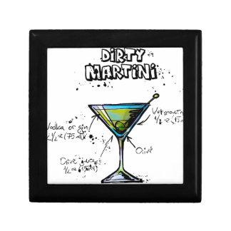Dirty Martini Cocktail Recipe Jewelry Box