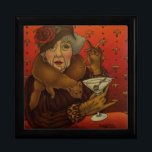 "Dirty Martini Gift Box<br><div class=""desc"">We &quot;boomers&quot; are aging (old), but it doesn&#39;t mean we can&#39;t have our own icons of style or lose our sense of humor. This &quot;lounge lady&quot; is dressed in vintage leopard, fox stole and rose adorned hat, sipping a Dirty Martini cocktail in the Red Room, telling bawdy stories of &quot;back...</div>"