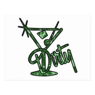 Dirty Martini - Green Postcard