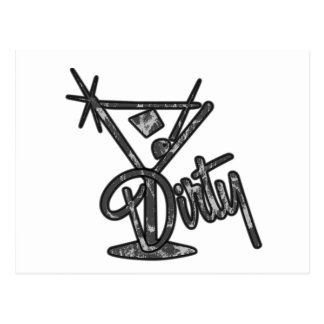 Dirty Martini - Grey Postcard
