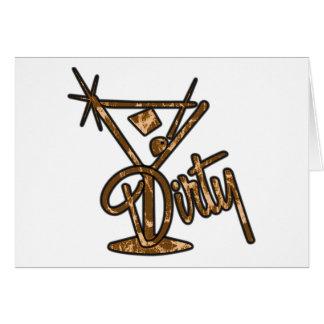 Dirty Martini - Orange Greeting Cards