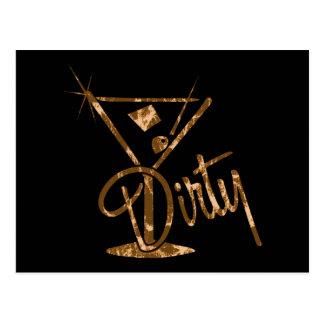 Dirty Martini - Orange Post Card