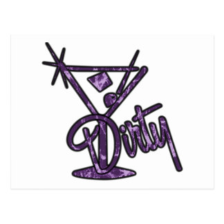 Dirty Martini - Purple Postcards