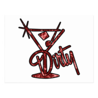 Dirty Martini - Red Post Cards