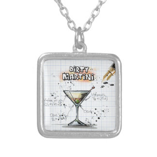 Dirty Martini Silver Plated Necklace