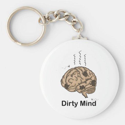 Dirty Mind Keychain