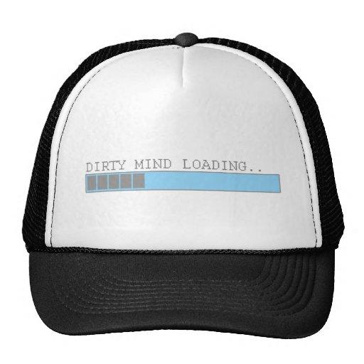 Dirty mind loading funny men boys and girls humor trucker hat