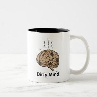 Dirty Mind Two-Tone Coffee Mug